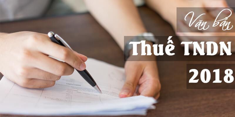 công văn hướng dẫn về thuế TNDN